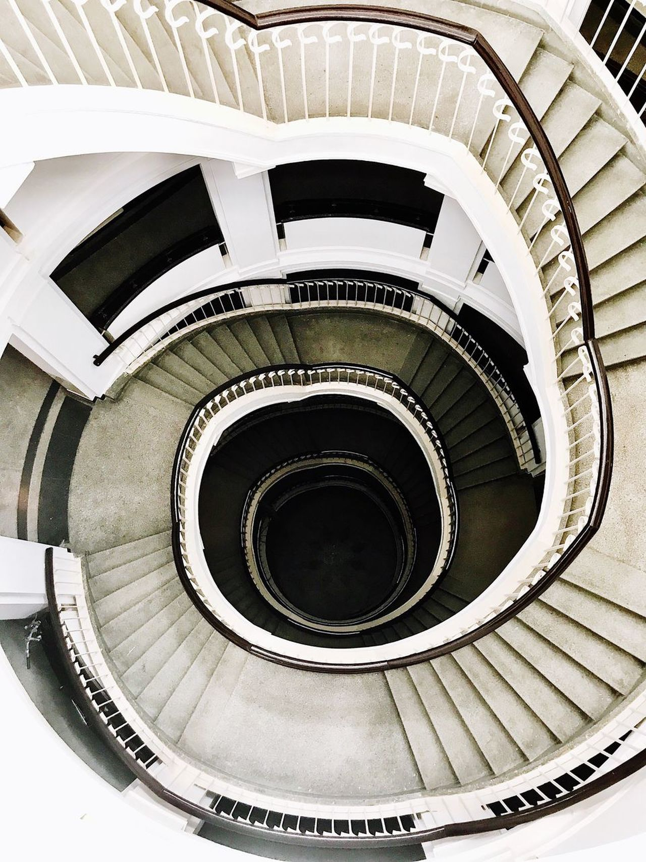 Spiral Steps And Staircases Staircase Railing Steps Spiral Stairs Architecture Built Structure Stairs High Angle View No People Indoors  Hand Rail Spiral Staircase Day Shotoniphone7plus EyeEm Selects