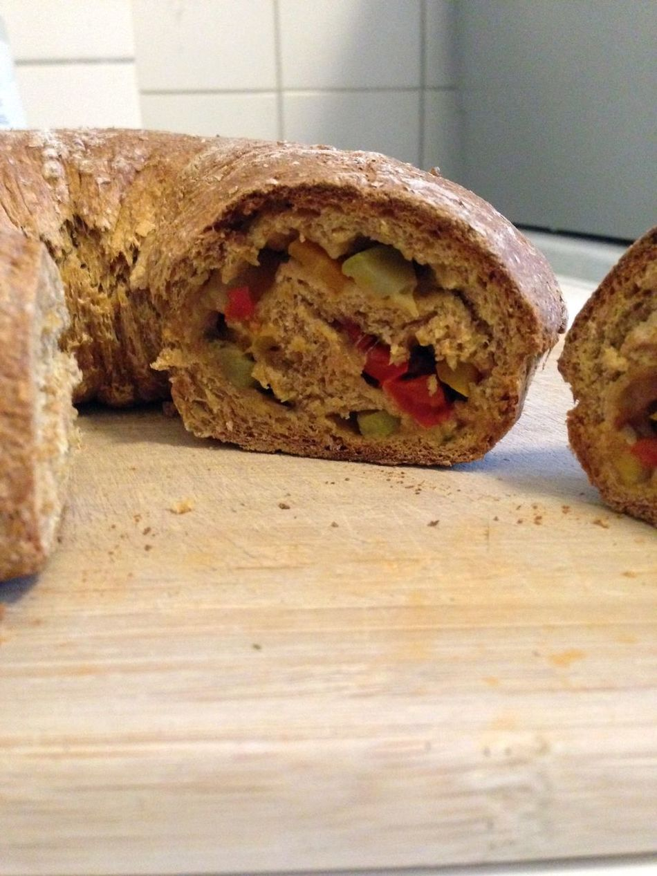 self made spelt bread with vegetables inside (gemüsebrot) Bread Bread Roll Close-up Food Self Made Food SPELT Speltbread Vegan Food Vegetables Vegetarian Food
