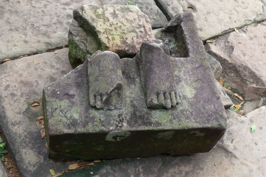 Angkor Thom Bayon Temple, Cambodia Broken Statue Broken Structure Close-up Day No People Outdoors Stone - Object