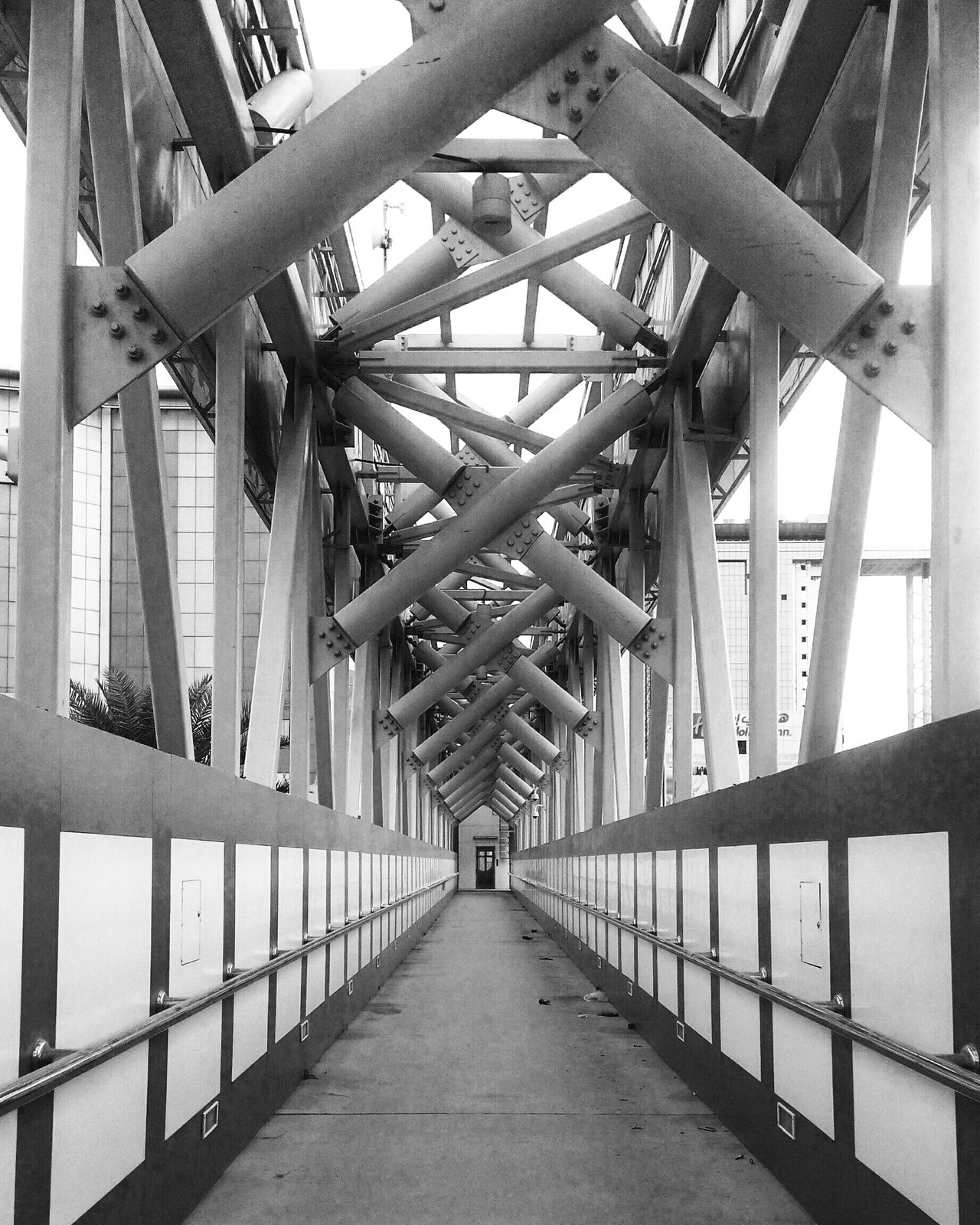 Bridge Bridge - Man Made Structure Built Structure Architecture City Outdoors Cross Structure Metal Street Lines Lines And Shapes