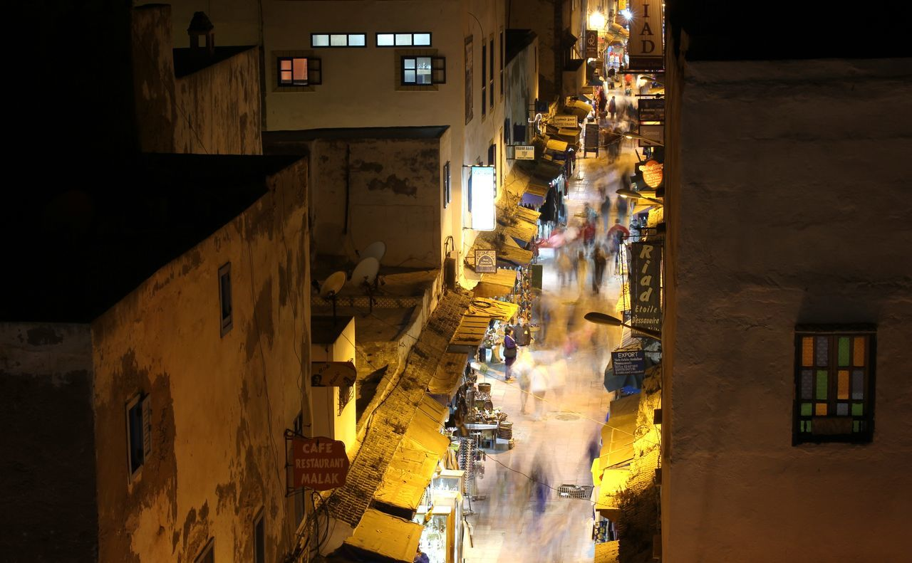 Marroco Essaouira Travel Photography Travel Night Life Night Market Night City Street Photography Streetview Busy Night Busy People