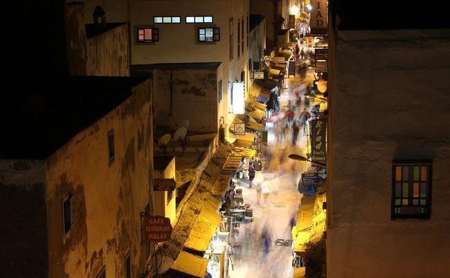 Marroco Essaouira Travel Photography Travel Night Life Night Market Night City Street Photography Streetview Busy Night Busy People
