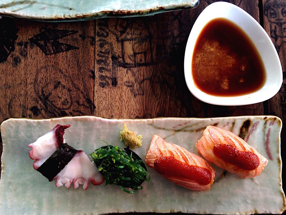 Freshness Healthy Eating Food Food And Drink Seafood Table Plate No People Meat Indoors  Sushi Day Sashimilovers Salmon Sushi Seafoods