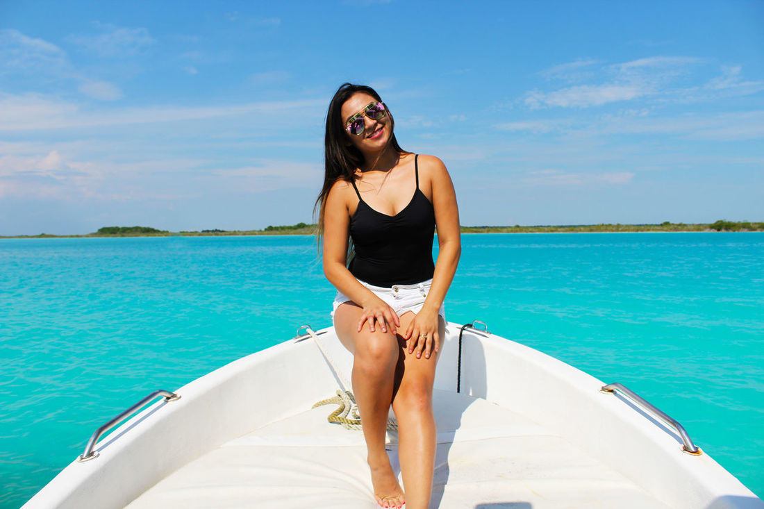 Beautiful Woman Beauty In Nature Day Horizon Over Water Lifestyles LumiereStudios Mode Of Transport Nature Nautical Vessel One Person Outdoors Real People Scenics Sea Sky Smiling Transportation Vacations Water Young Adult Young Women
