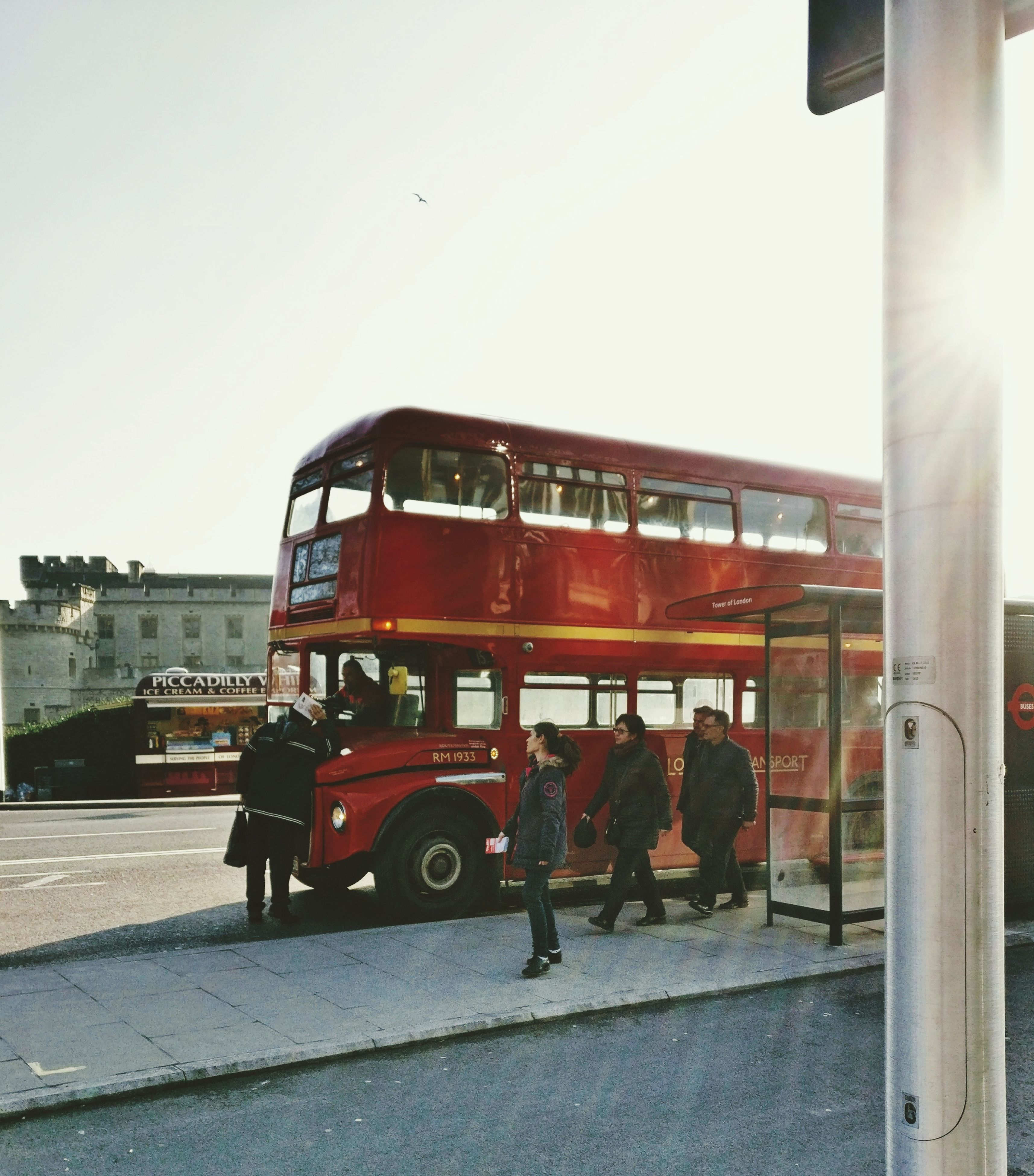 transportation, mode of transport, rescue, fire engine, no people, day, public transportation, sky, outdoors, architecture