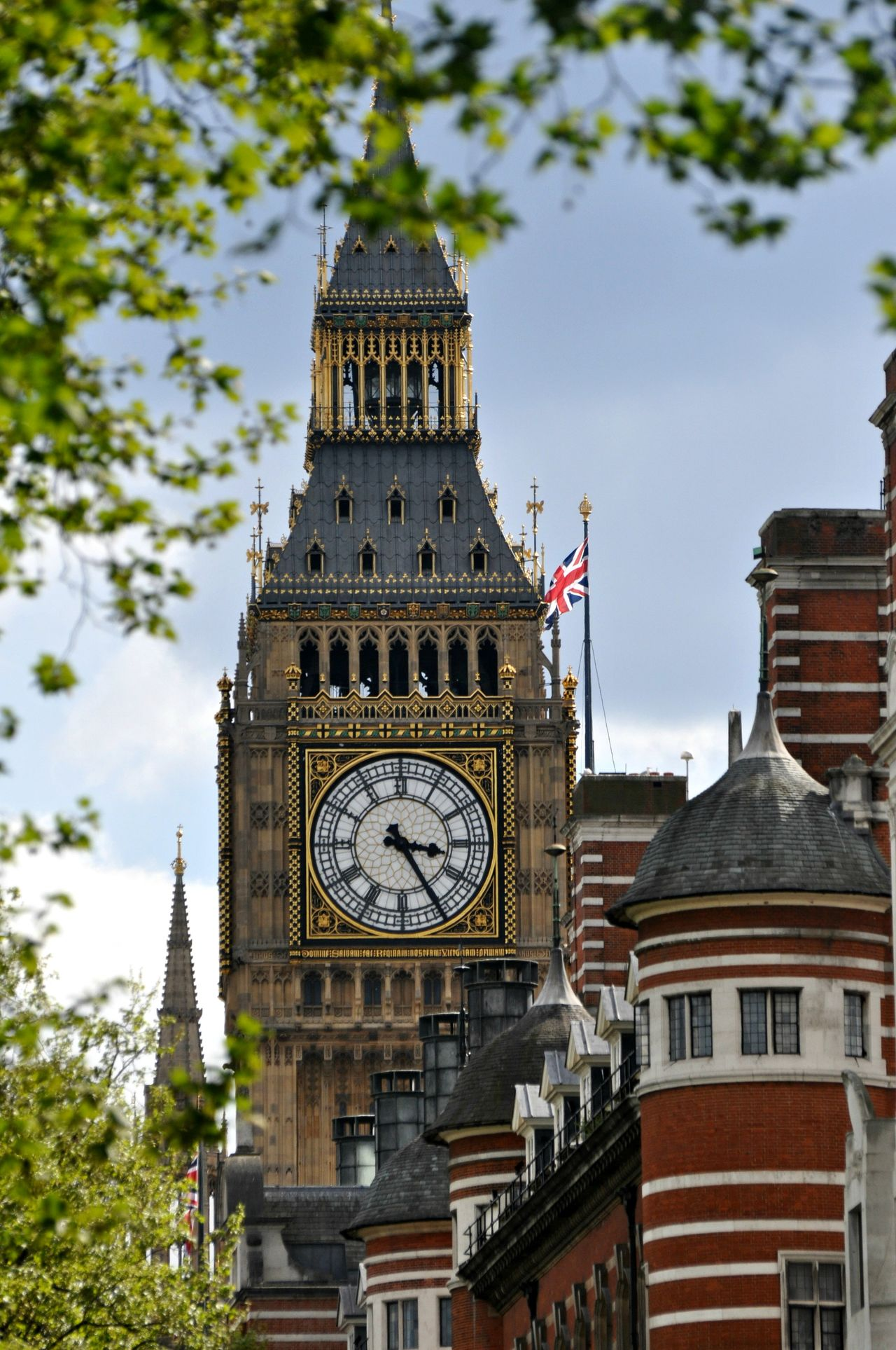 Big Ben clock tower Architecture Big Ben Building Exterior Built Structure City Clock Clock Face Clock Tower Day History London Low Angle View Minute Hand No People Outdoors Roman Numeral Sky Time Tower Travel Destinations Tree