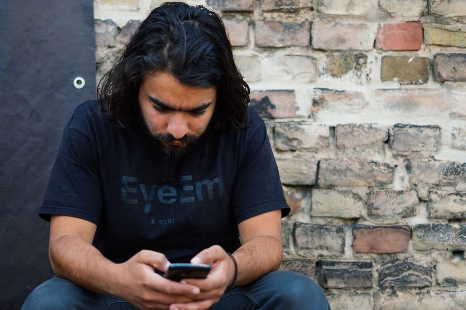 Beautiful stock photos of phone, Beard, Berlin, Black Hair, Casual Clothing