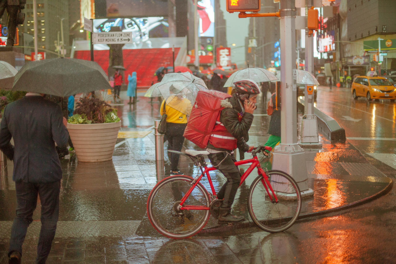 Bicycle City Street Men NYC People Real People Street Street Photography TimesSquare
