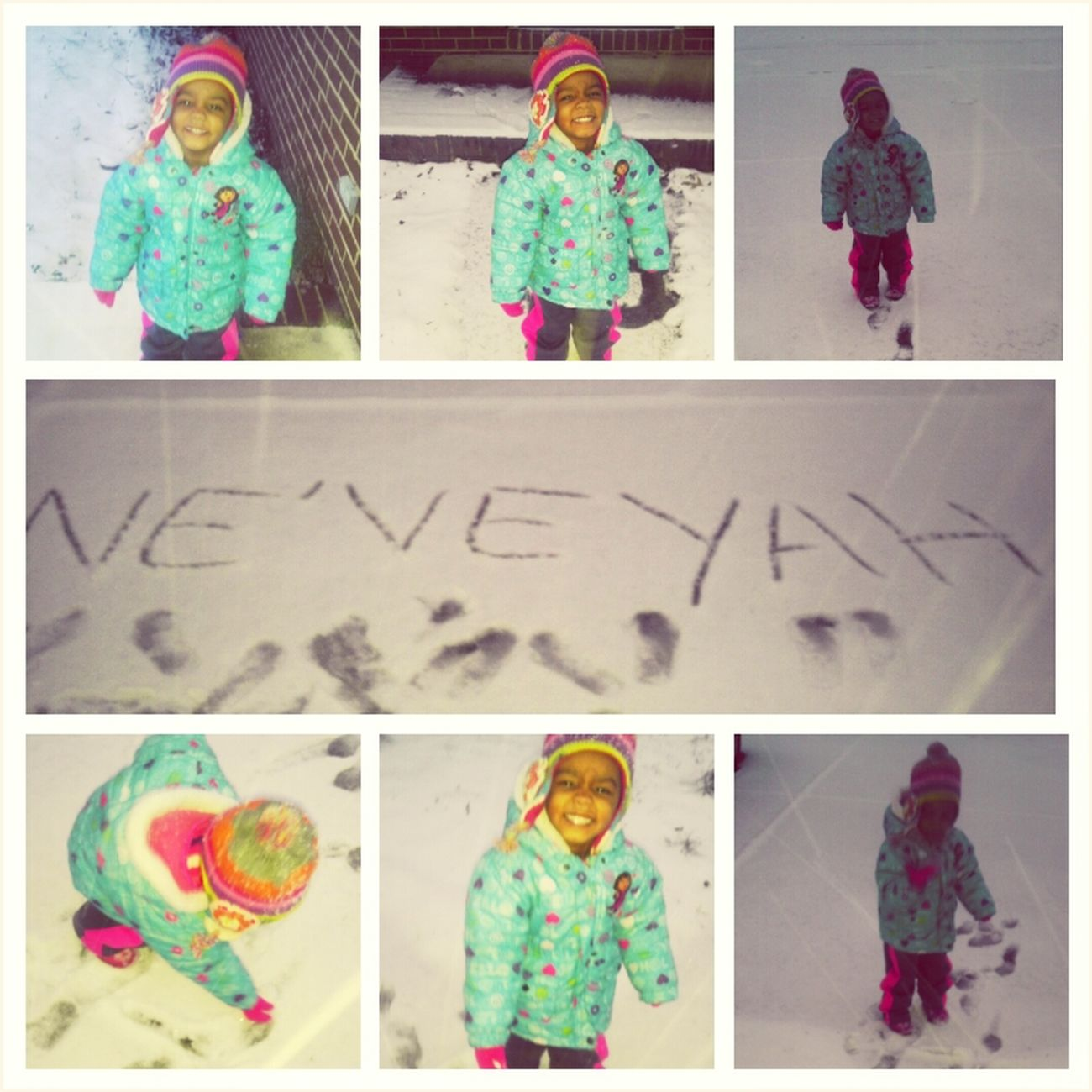 playing in the snow earlier