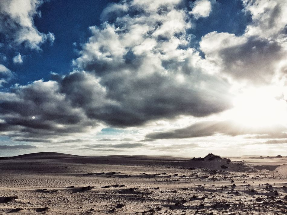 Sky Cloud - Sky Scenics Nature Beauty In Nature Tranquility Outdoors Tranquil Scene No People Landscape Day WA Jurien Bay Low Lighting Sand Dunes Contrast And Lights Traveling Photography Photography Nature Sunlight Cloudy Day Skyscape