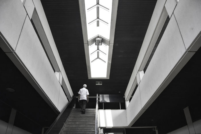 Architecture Best Of Stairways Blackandwhite Building Built Structure Ceiling Design EyeEm Best Shots EyeEm Gallery Indoors  Interior Low Angle View Modern Office Office Building Pattern People People Photography Railing Staircase Stairs Stairways Steps Steps And Staircases Showcase: February