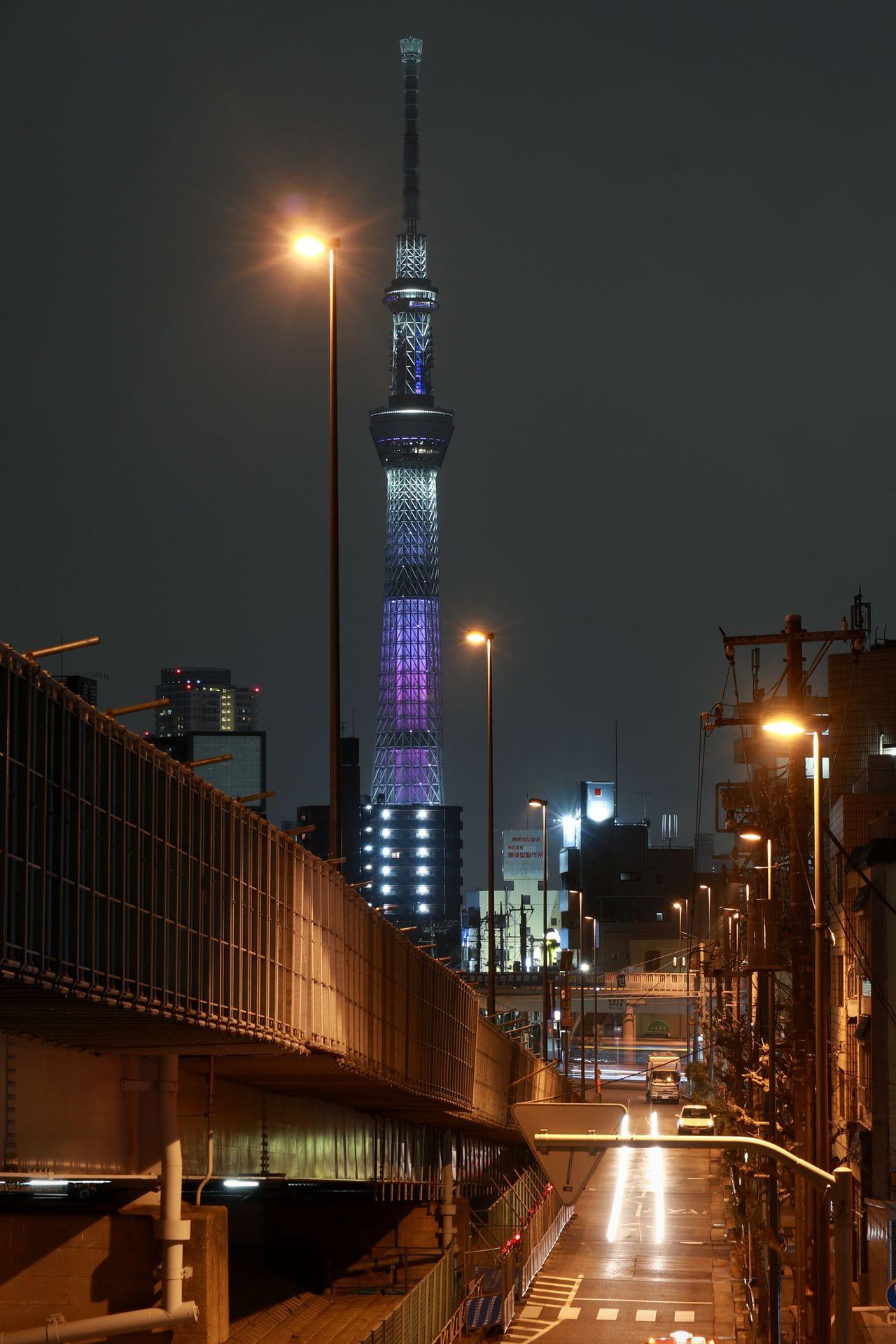 Night Nightphotography Nightview Nightscape Urbanlandscape Japan Tokyo Skytree Tokyoskytree Illuminated Tower