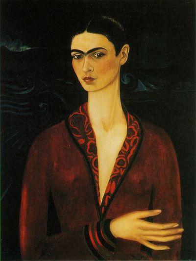 Frida Kahlo Portrait Of A Woman Oiloncanvas