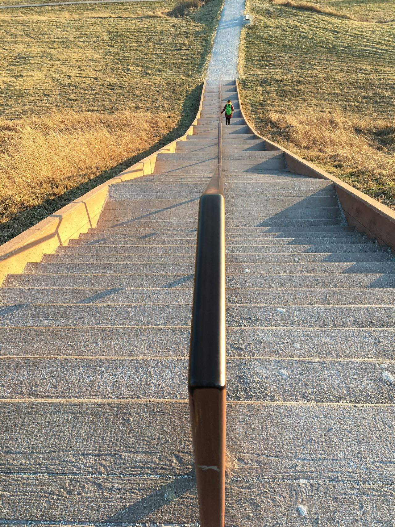 Stairs Staircase Transportation Road Landscape Day Nature Outdoors Travel Symmetry Sunlight Cahokia Mounds Sacred Places