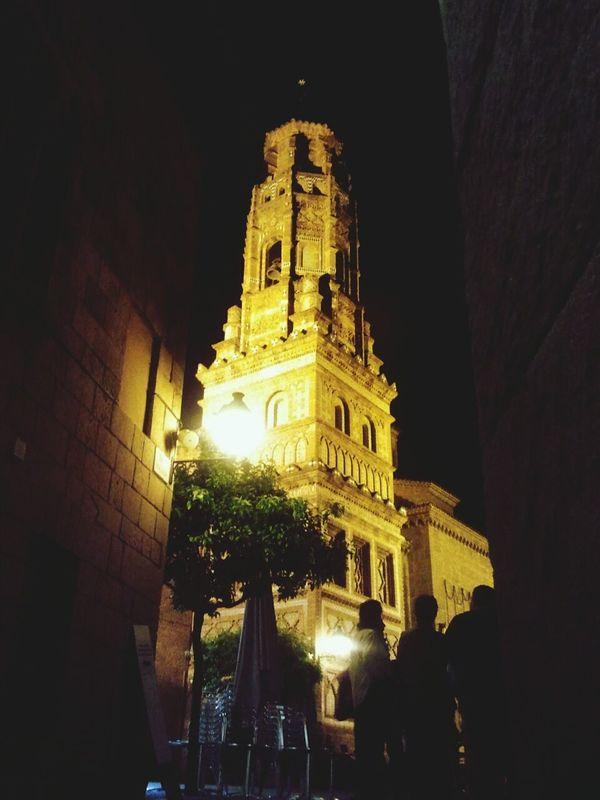 Poble Espanyol Barcelona Church Nigth Ligths