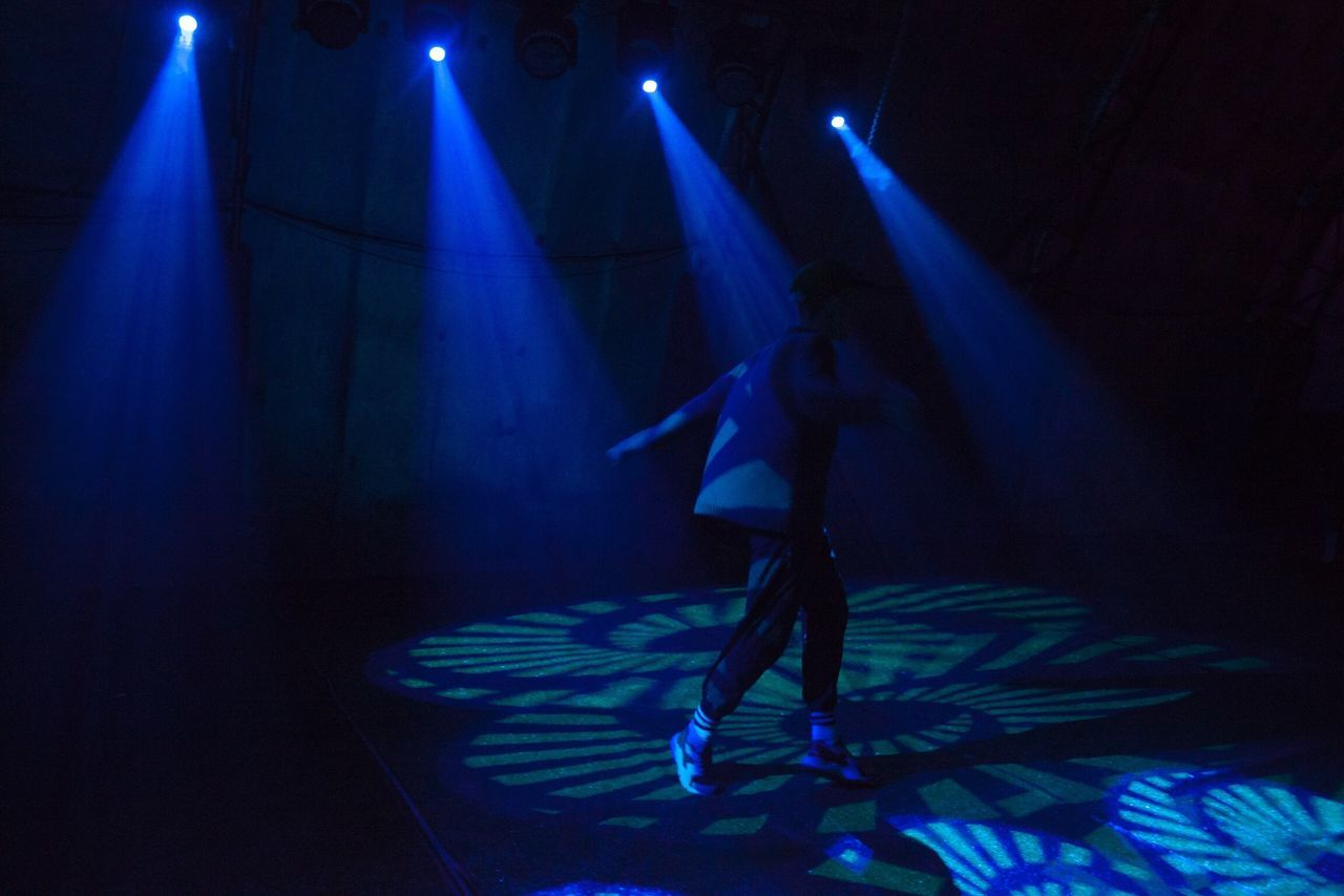 Performance Arts Culture And Entertainment Stage - Performance Space Rave Nightlife Dancing Full Length Stage Light Illuminated Music Skill  Indoors  Performing Arts Event Lighting Equipment One Person Event Nightclub Laser Light Beam Disco Lights Lost In The Landscape AI Now