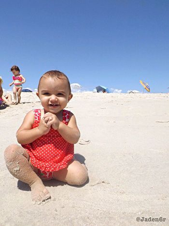 Beach baby 😘 Beach Baby Beach Baby Sand Sun Ocean Cute Adorable My Photography IPhoneography