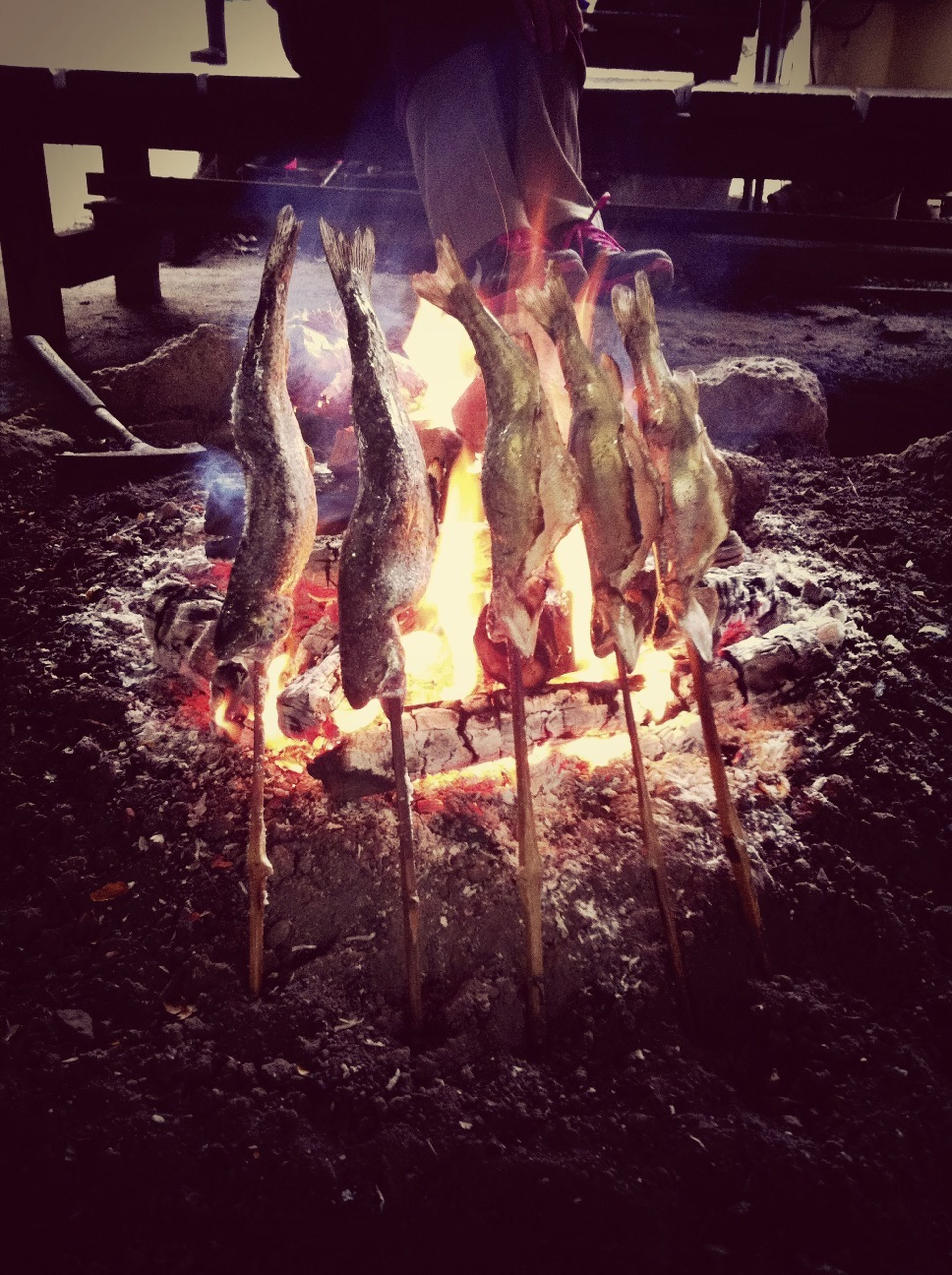 flame, burning, heat - temperature, fire - natural phenomenon, firewood, night, wood - material, indoors, fire, bonfire, glowing, barbecue grill, close-up, log, barbecue, preparation, smoke - physical structure, illuminated, heat, no people