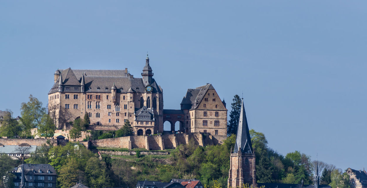 EyeEmNewHere Marburg Castle Marburger Schloss Panorama The Week On EyeEm Ancient Architecture Building Exterior Clear Sky Day Germany History Marburg Nature No People Outdoors Sky