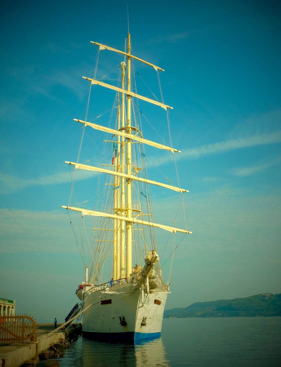 nautical vessel, transportation, mode of transport, water, sky, mast, sea, no people, outdoors, nature, moored, day, tall ship, sailboat, scenics, beauty in nature, sailing ship