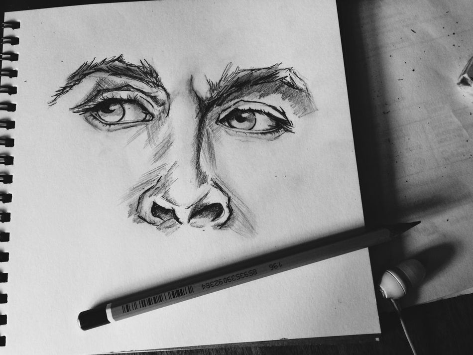 Drawing - Art Product Paper Close-up No People Diary Indoors  Pencil Drawing Day Hanging Sketch Sketchbook Sketching Doodle Painting Drawing Art Artist People Eye Cultures One Person