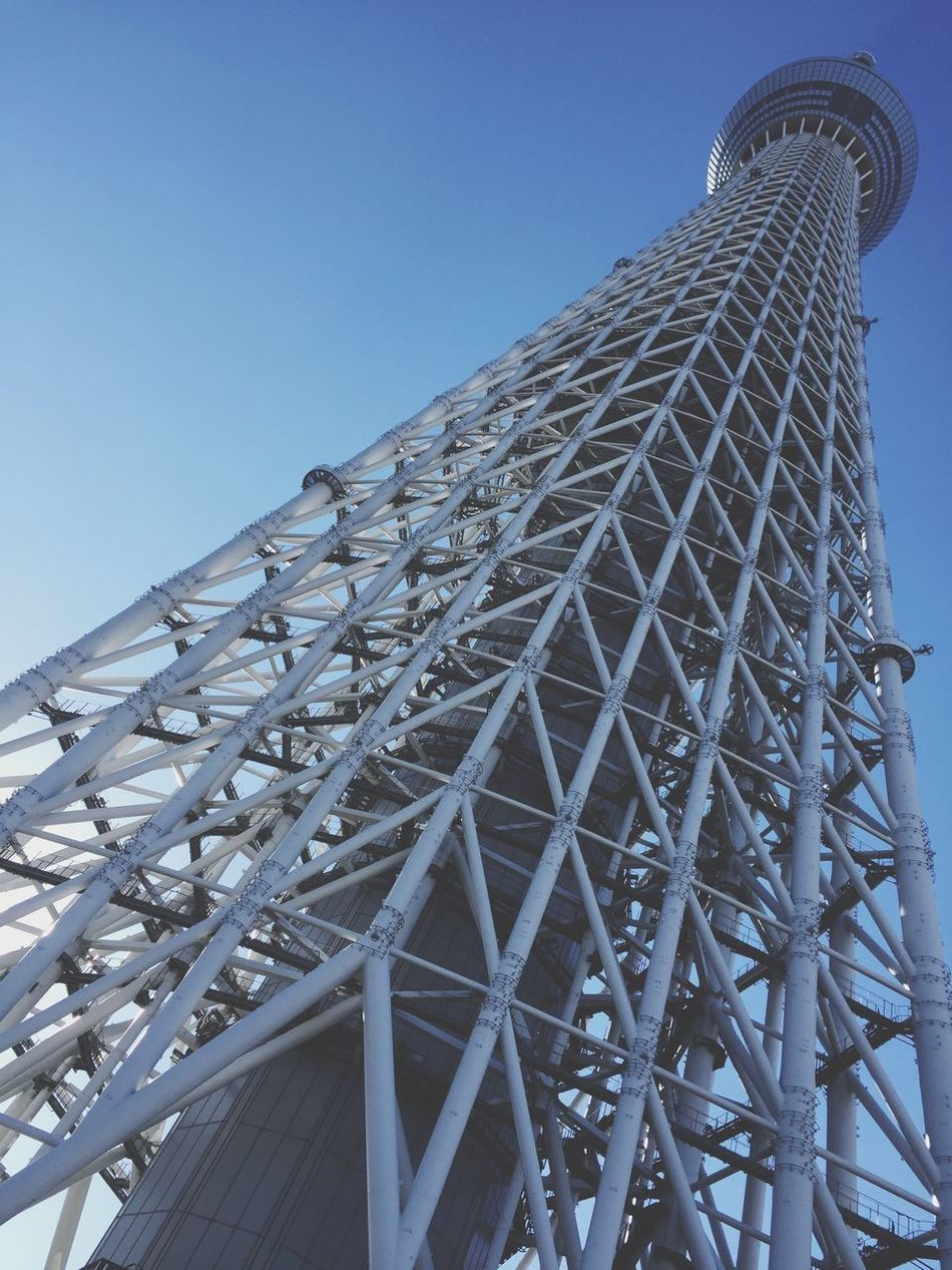 Low Angle View Architecture Built Structure Clear Sky Day No People Outdoors Building Exterior Sky Japan スカイツリー