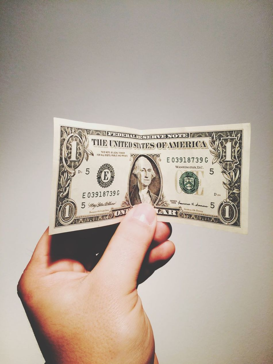 Beautiful stock photos of stock exchange, American One Dollar Bill, Close-Up, Copy Space, Currency