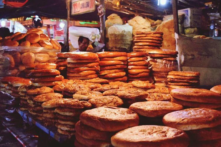 Bread Market Stall Ramadan Mubarak Sweet Buns Food