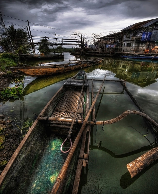 Baby Banca Bridge Clouds And Sky Deterioration Joel Yonzon Lakeside Moored No People Old Outdoor Photography Outdoors Rural Scenes Transportation Transportation Water Water Reflections Wood - Material