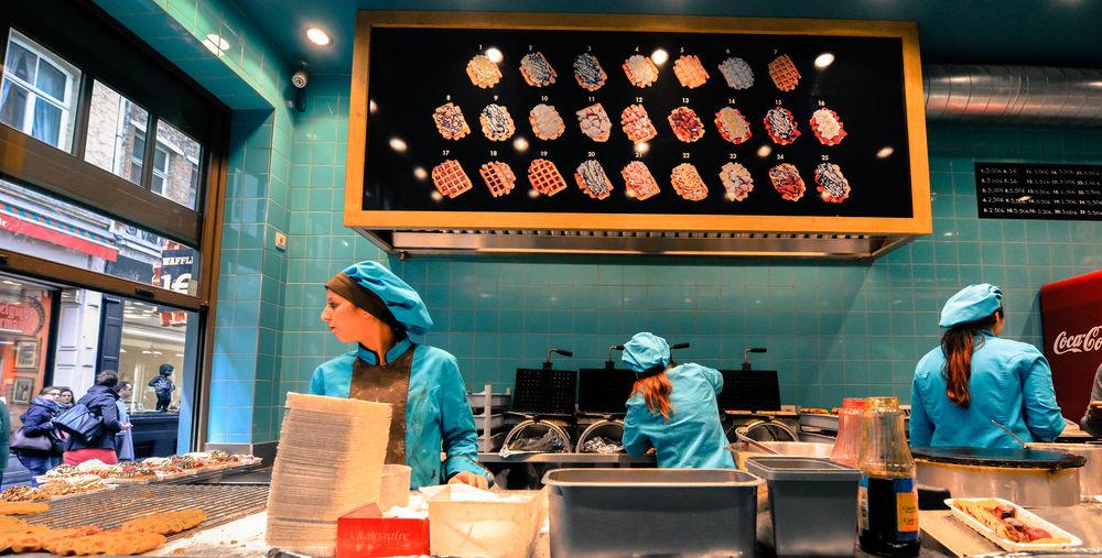 Belgian Waffles Belgium Brussels Food Shop Shopping Turquoise Waffle The Street Photographer - 2017 EyeEm Awards