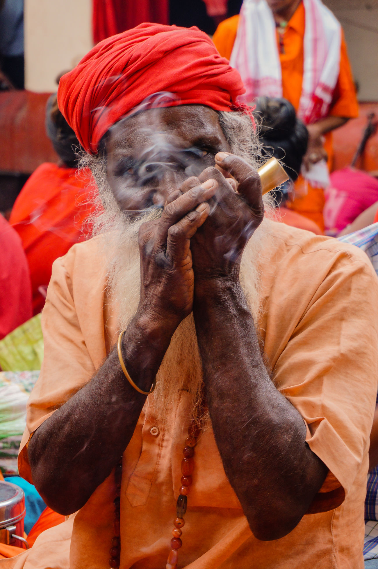 Adult Adults Only Assignments Bright Colours Close-up Cultures Day Devotion Elephant Emotions Captured Exploring Style Guwahati India Kamakhya Temple Mammal Men One Animal One Person Outdoors People Real People Religion Traditional Clothing Women