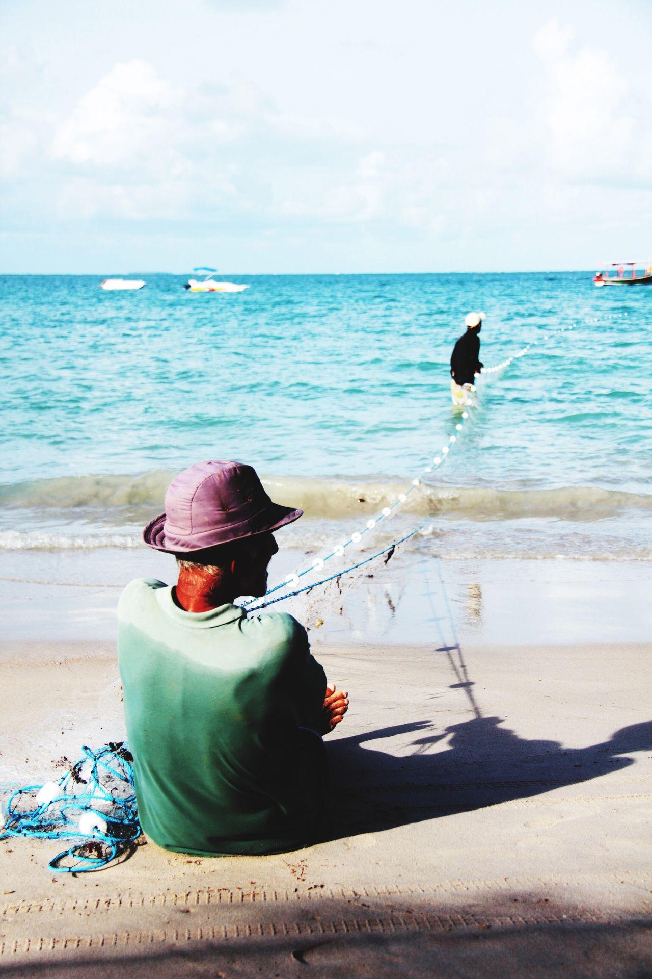 Fisherman Pesca Beach Praia Rede Pescador Fishing Time Fishing