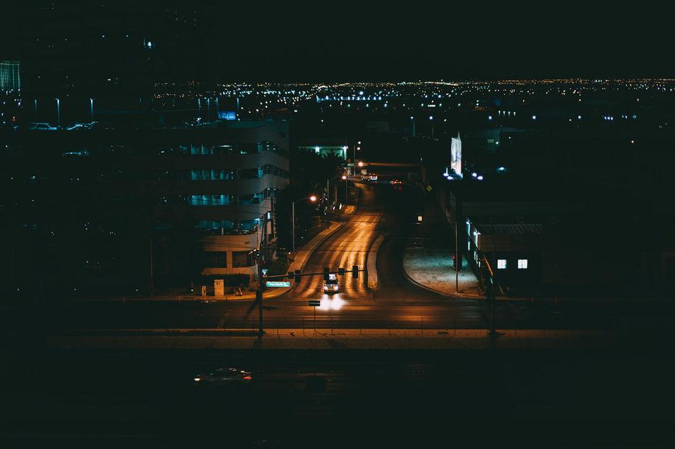 Night Illuminated No People Transportation Car Road Outdoors City Photographerinlasvegas City LifeEvanscsmith Lasvegas Canon