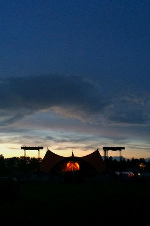 Orange stage is getting there..... Roskilde Festival Music Orange Stage Sunset Contrast Night Lights Sky And Clouds Denmark