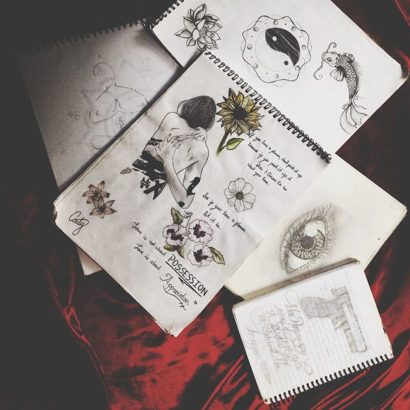 RePicture Wealth My plethora of sketch books ☺️ Serial Doodler Art Drawing