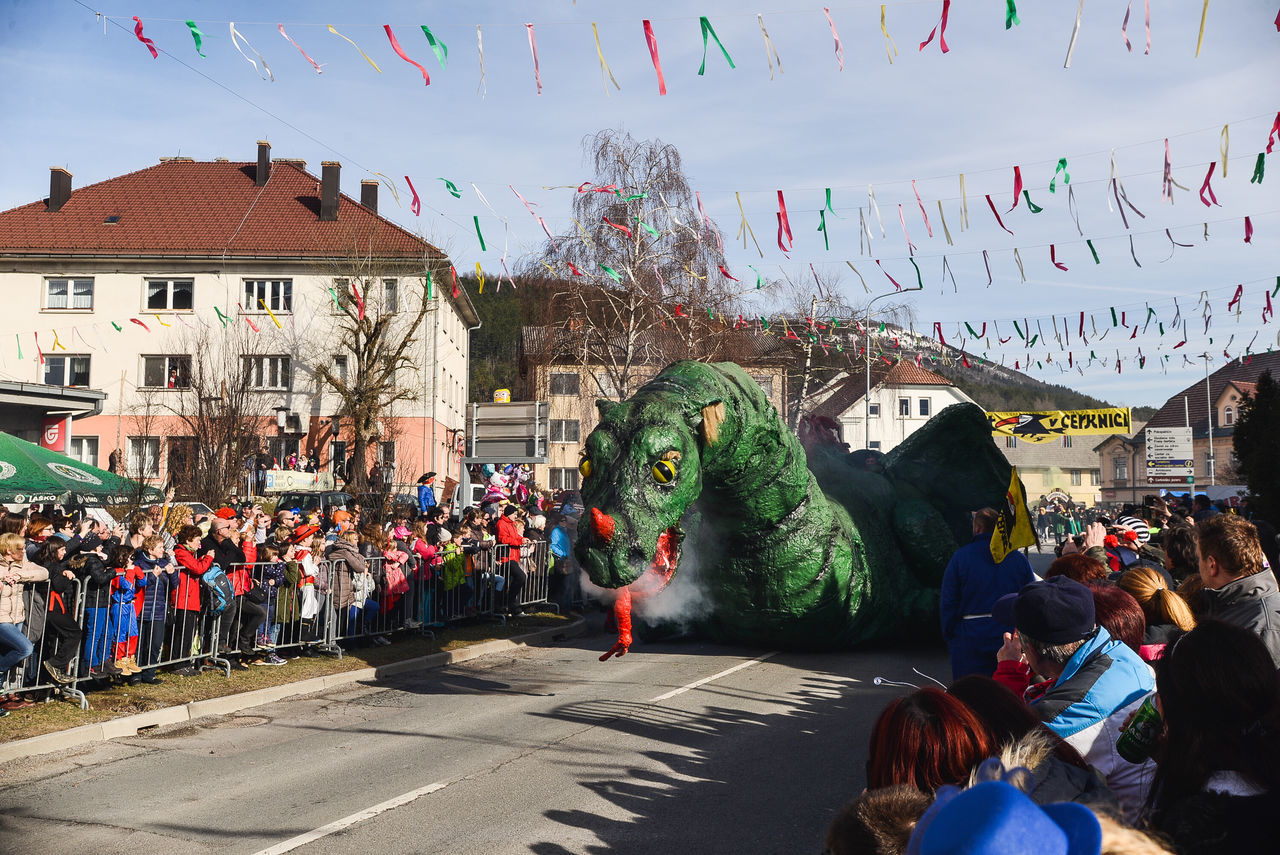 Carnival Carnival Crowds And Details Carnival Mask Carnival Parade Carnival Party Carnival Spirit Carnival Time Celebration Celebration Celebration Event Cerknica Crowd Dragon Dragons Giant Dragon Large Group Of People Mask Masks Masquarade Masque Masquerade Multi Colored Pust Real People Slovenia