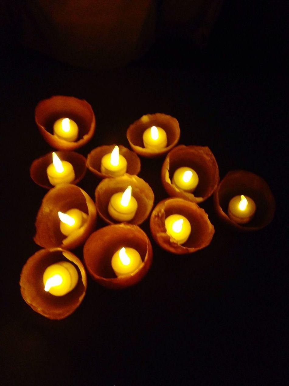 Selbst gemachte Kerzenhalter