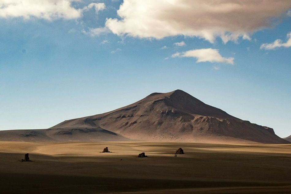 Landscape Desert Sand Dune Sand Scenics No People Outdoors Mountain Sky Day Eduardo Avaroa National Reserve Eduardo Avaroa Potosy Bolivia Andes Andes Mountains Andesmountains Miles Away