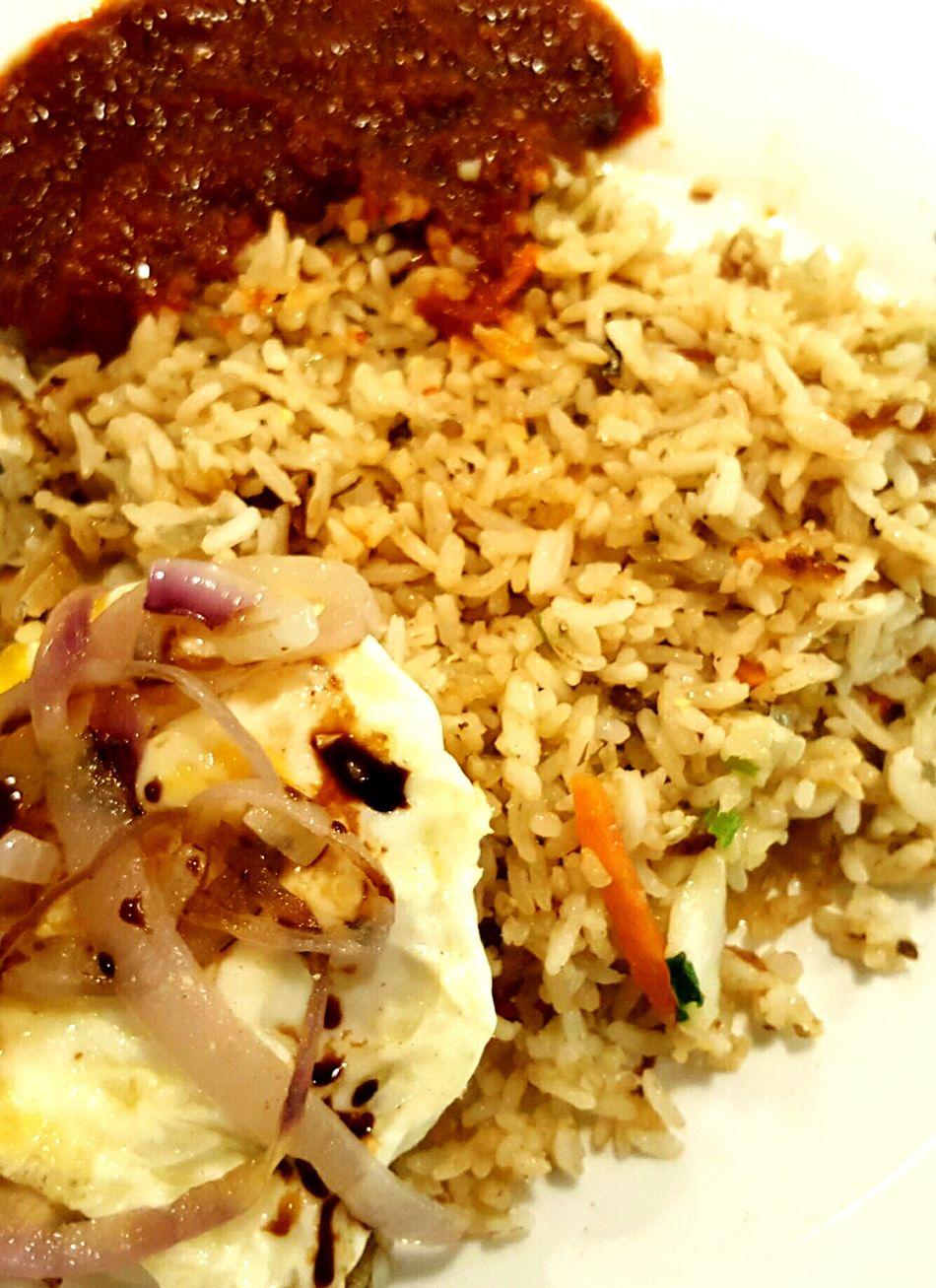 Nasigoreng Telurmata Sambal Sotong Friedrice Malaysian Food Spicyfood