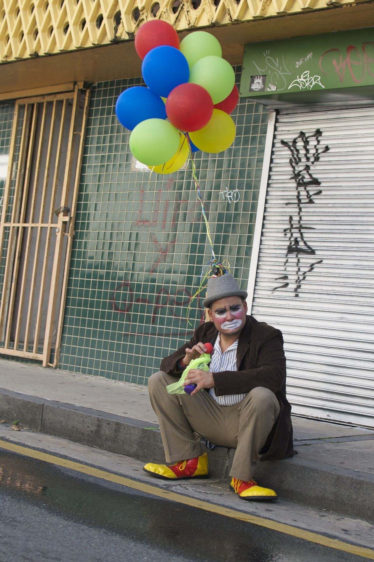 Beautiful stock photos of clown, balloon, portrait, sitting, celebration