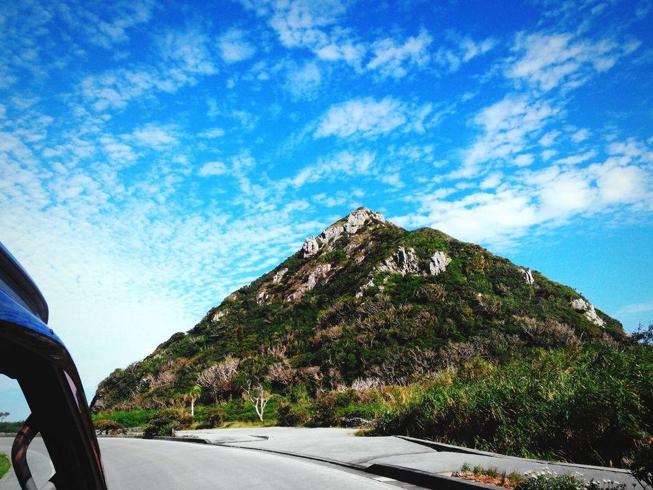 修学旅行 沖縄 伊是名島 Japan 三角山