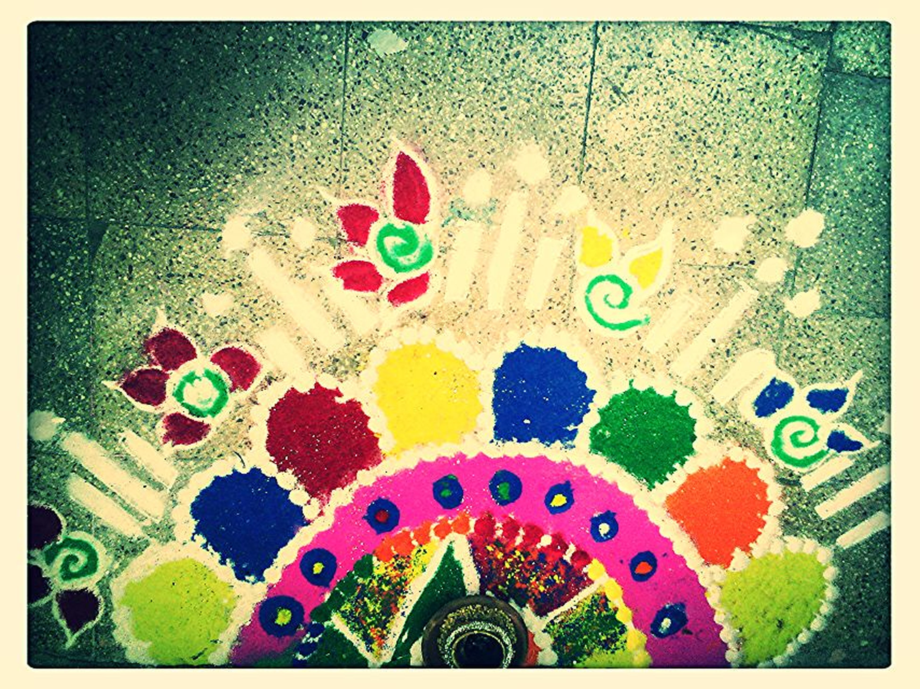 multi colored, indoors, transfer print, art and craft, decoration, art, creativity, design, pattern, auto post production filter, floral pattern, colorful, celebration, high angle view, ornate, text, variation, ceiling, no people, tradition