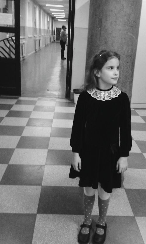 Strange Mood Blackandwhite Photography Blackandwhite Children Photography Child Event School Life  Musicschool Waiting