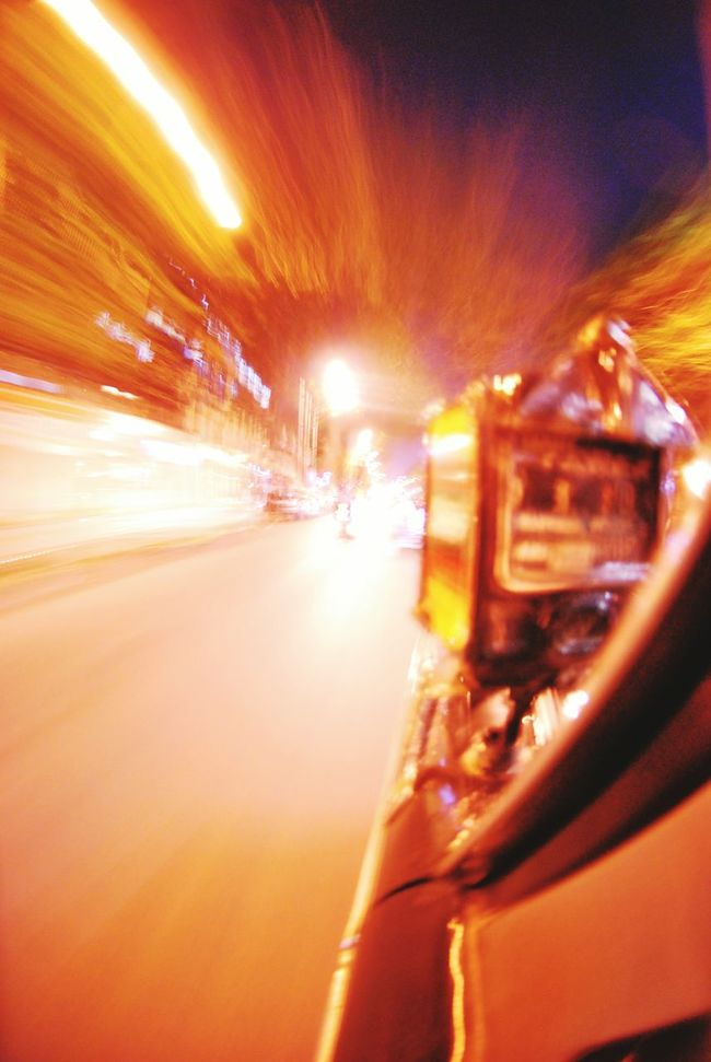 Capturing Motion Blurred Motion Illuminated Night Travel Speed Car City Motion No People Urgency Nightlife Outdoors Vertical Taxi Mumbai Streetphotography Street