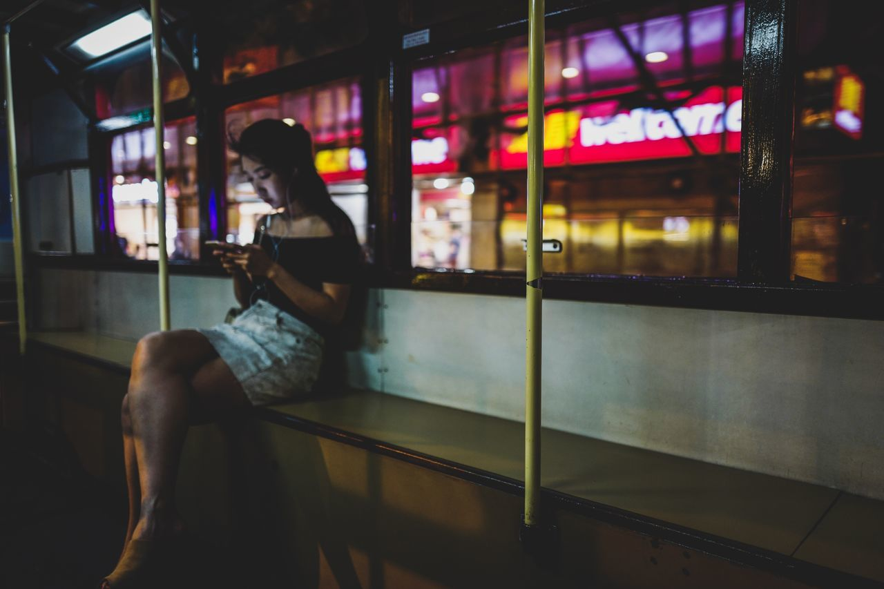 passenger Hktramway Tram Weekend Saturdaynight Cityscape Leicaq Nightshooters EyeEm Selects EyeEmNewHere Shadows & Lights Art Is Everywhere From My Point Of View Beautiful Discoverhongkong Outdoors Modern City Communication Illuminated