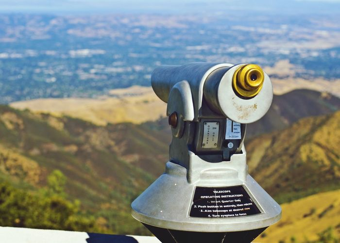 """""""I Can See For Miles"""" View Enjoying The View Amazing View Telescope Outdoors Mt. Diablo"""
