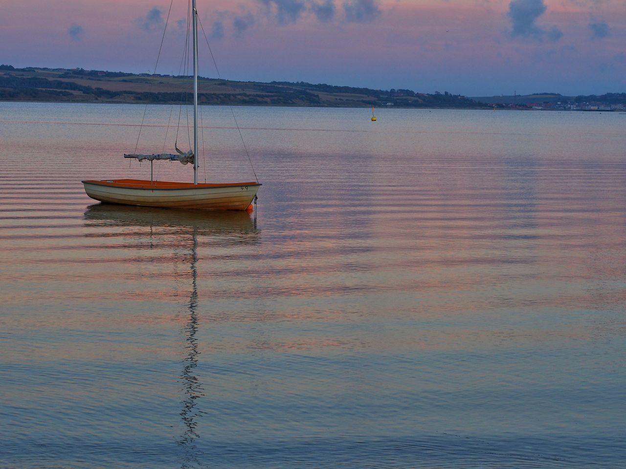 Lemvig Gjellerodde Colors Boat Water Landscape Sunset M.Zuiko 45mm 1:1,8 Midtjylland Jylland
