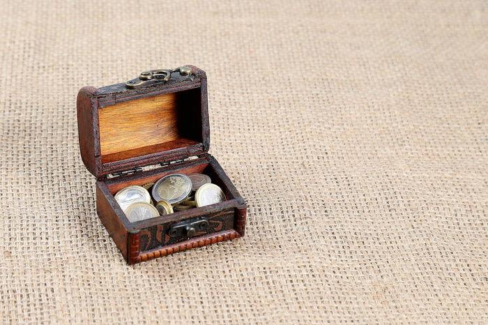 Day Indoors  Money No People Open Box Treasure Values