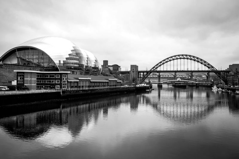 Black and white edit Thesage Tyne Bridge Newcastle Upon Tyne Architecture Building Exterior Built Structure Bridge - Man Made Structure City Sky River Waterfront Water Arch Travel Destinations Bridge Outdoors Cityscape Connection Day No People Cultures TheWeekOnEyeEM Nikonphotography Check This Out
