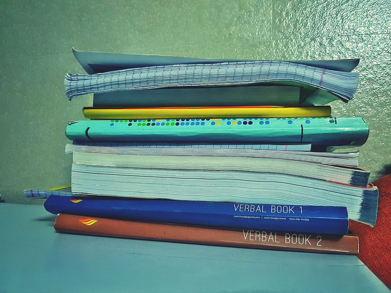still life, stack, indoors, table, text, no people, paper, education, book, close-up, day